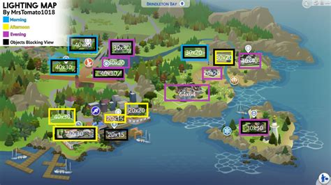 This The Sims 4 Lighting Map Guide Will Help You Showcase