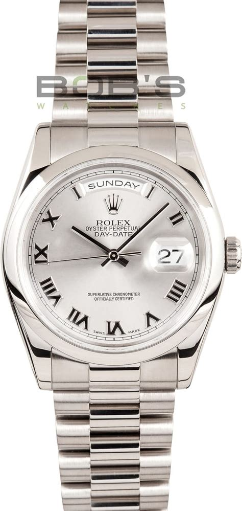 Rolex Presidential White Gold Save $1,000 - Bob's Watches