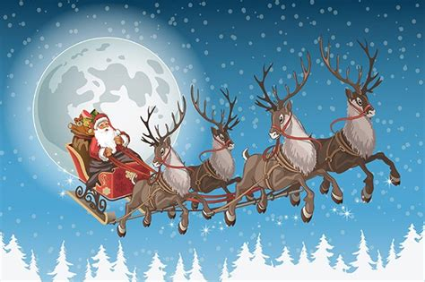 Watch Santa's sleigh fly over your house this Christmas