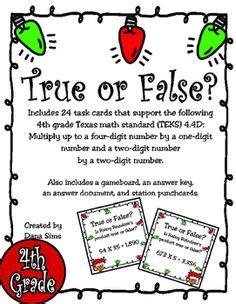 These 24 task cards support the following 4th grade Texas