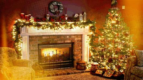 Christmas, Holiday, Fireplace, Interiors, Welcome Home