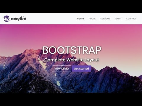 Build a portfolio website with HTML5, CSS3,Bootstrap 4