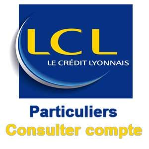LCL Interactif Particuliers - Consulter compte
