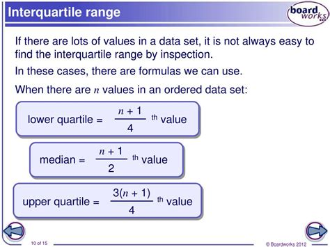 PPT - The range and interquartile range PowerPoint