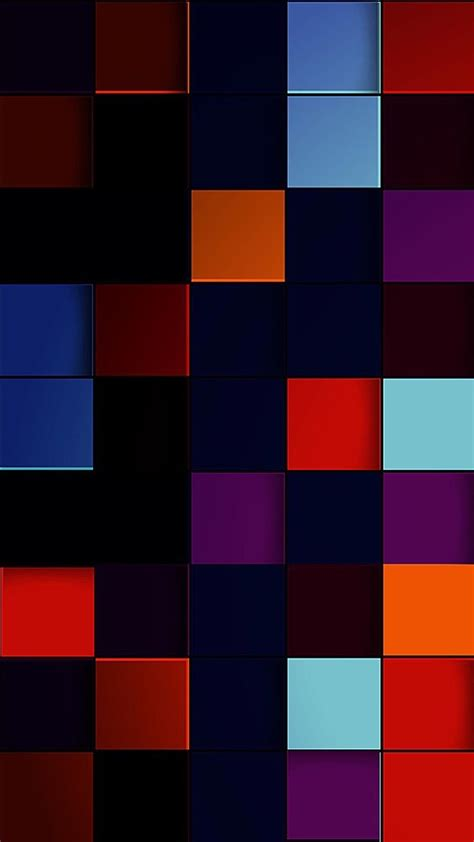 Colorful Geometric Shapes Wallpaper   Abstract iphone