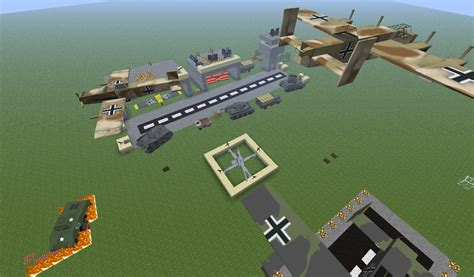 Minecraft Flan's mod German Airport - Maps - Mapping and