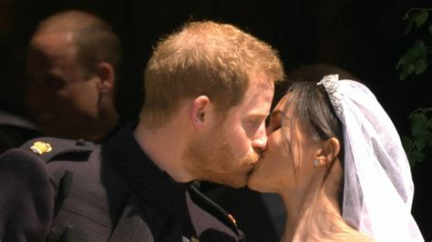 See Prince Harry and Meghan Markle's First Kiss as Husband
