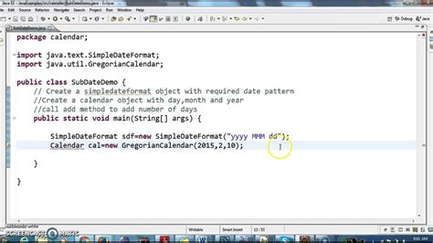 How to subtract number of days from Date in java? - YouTube