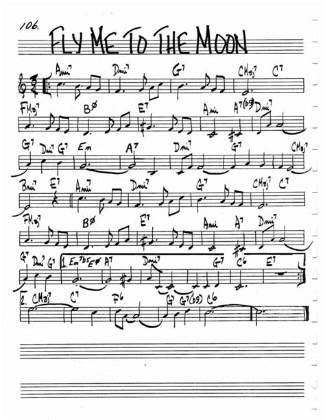 Jazz Standard Realbook chart FLY ME TO THE MOON | Jazz