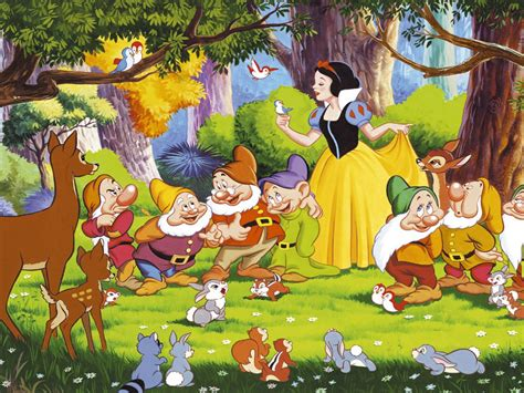 Snow White Seven Dwarfs Bambi And The Animals From The