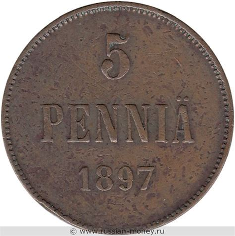5 penniä 1905 | values in the table above are expressed in usd