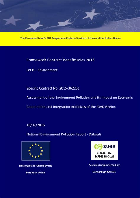 (PDF) Assessment of the Environment Pollution and its