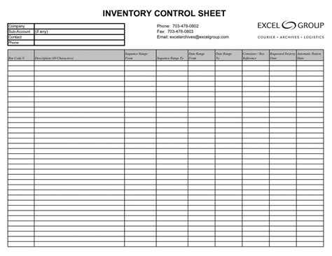 Free Inventory Spreadsheet Template Google Sheets   db