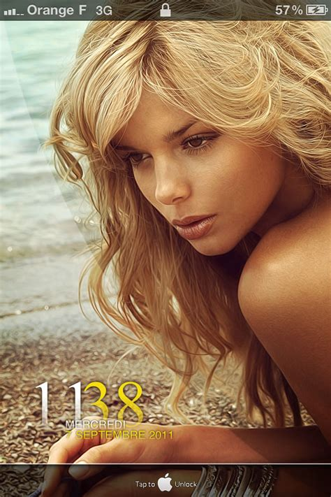 Download Hot Girl On Sea iPhone Theme - iPhone Themes