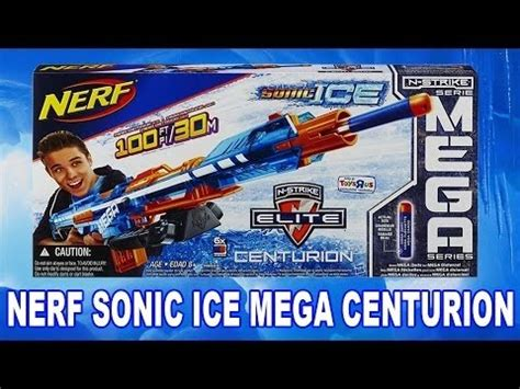 Nerf Sonic ice Mega Centurion Blaster unboxing and review