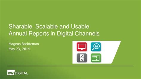 Annual reports in digital channels 2014 - Sharable