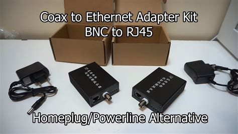 Coax to Ethernet Adapter - BNC to RJ45 - Unboxing