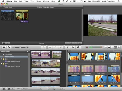 How to Add Transitions to Your iMovie 09 Project - dummies