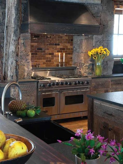 20+ Stunning Stone Kitchen Ideas Bring Natural Feel Into
