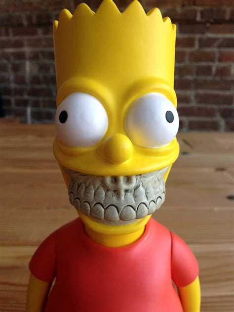 Bart Grin, A Grinning Bart Simpson Vinyl Art Toy by Ron