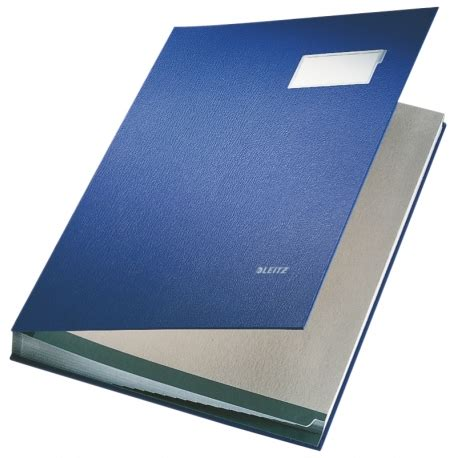 Signature Book Leitz 20 Tab PP Cover Blue - Torres Office