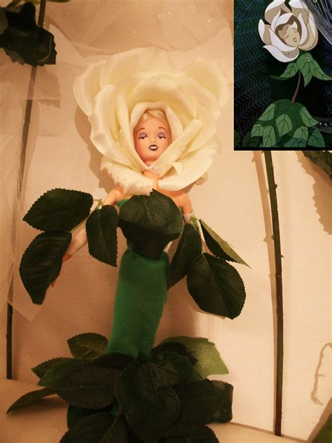 """disney """"white rose"""" doll ooak from the movie """"alice in won"""
