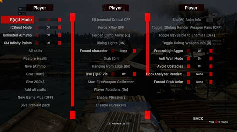 Developer and Cheat Menu at Dying Light Nexus - Mods and