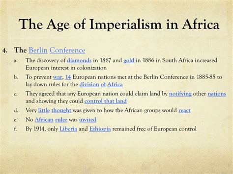 PPT - Imperialism to Independence PowerPoint Presentation