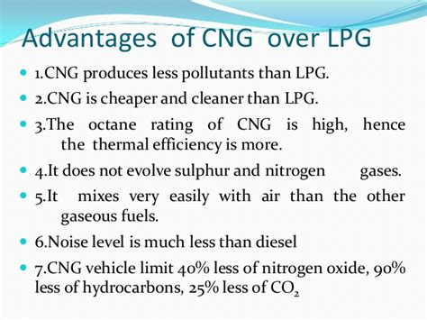 Lpg and cng