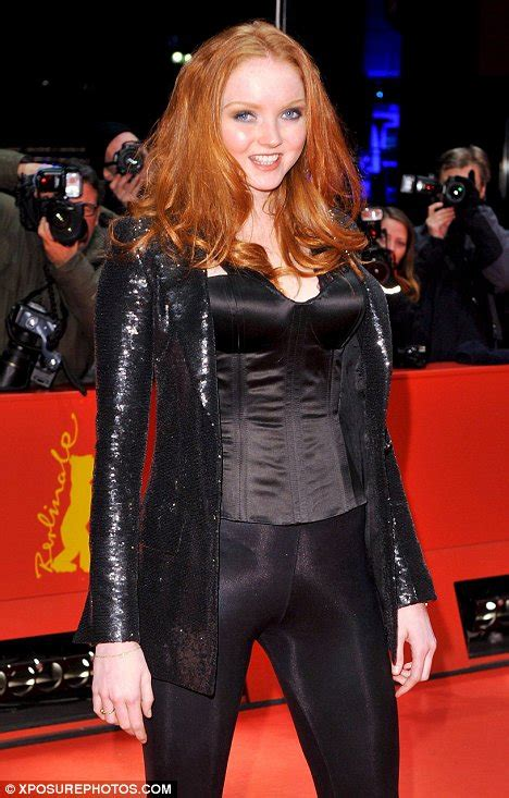 Lily Cole sexes up her red carpet image in a pneumatic