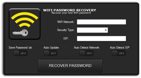 Free WIFI Password Recovery | Wifi password recovery, Free