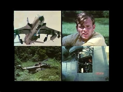 A downed F-105 pilot is air rescued from the Vietnamese