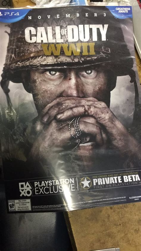 Call of Duty: WWII Private Beta available first on PS4