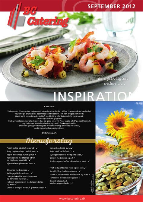 Inspiration, september 2012 by BC Catering Roskilde A/S