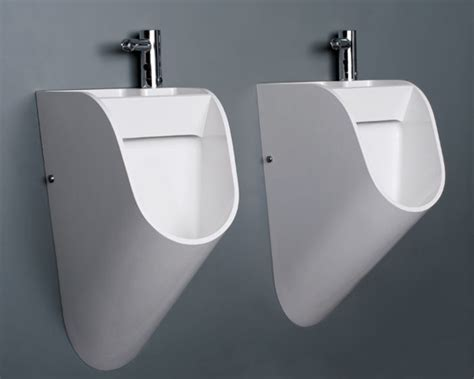 This New Design For The Men's Room Urinal Has An Attached