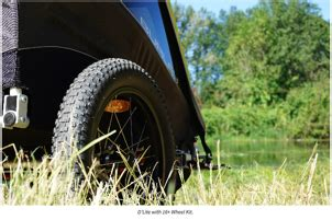 Burley Design offers plus-size tire kit for its trailers