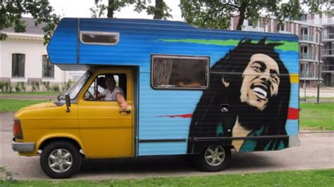 Ford Transit Camper 1985 - Bob Marley Painting - YouTube