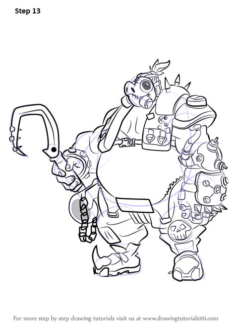 Learn How to Draw Roadhog from Overwatch (Overwatch) Step